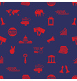politics red and blue icons seamless pattern eps10 vector image vector image