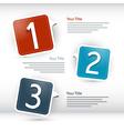 Progress steps for tutorial infographics vector image