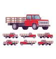 red empty truck vector image vector image