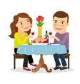 Romantic dinner in a restaurant vector image