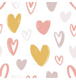 romantic seamless pattern with cute stylized hand vector image