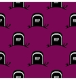 Seamless Pattern Halloween Tomb vector image