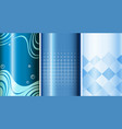 set of blue background vector image vector image