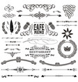 set of calligraphic design elements page vector image vector image