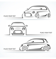 Set of modern compact car silhouettes vector image vector image