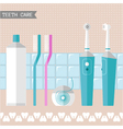 set of teeth care icons vector image vector image