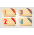 Set retro cardboard paper banners with color