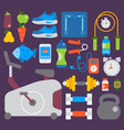 sport gym fitness equipment inventory and vector image vector image