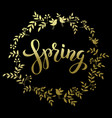 Spring handwritten brashpen luthering spring in