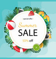 summer sale beautiful web banner stock vector image vector image