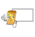 thumbs up with board homemade wrapped tamales vector image vector image