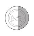 Towing a car vector image vector image