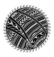 tribal tattoo in maori style vector image vector image