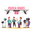 tv political debates vector image