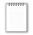 Vertical notebook vector image vector image