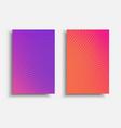 vibrant gradient brochure vector image