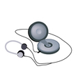 Walkman CD or DVD Player with Disc Inside vector image vector image