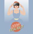 woman wearing virtual reality glasses-01 vector image vector image