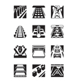 Industrial assembly lines vector image