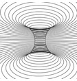 abstract design frame of wormhole distort of vector image vector image