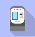 bank atm icon flat style vector image vector image