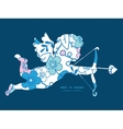 blue and pink kimono blossoms shooting vector image vector image