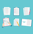 business checklist priority list checks check vector image