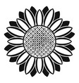 circle of sunflower icon simple style vector image