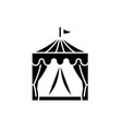 circus black icon sign on isolated vector image