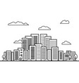 city on white background line building landscape vector image