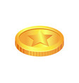 coin made of gold material vector image