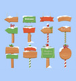 collection of cute christmas wooden pointer vector image