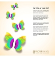 Colored butterflies cut from paper vector image vector image
