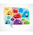 Colorful Social media bubble shape vector image