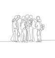 continuous line black and white drawing vector image vector image