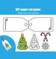 cut and paste children educational game paper vector image vector image