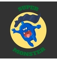 cute monster T-shirt graphics cute cartoon vector image vector image