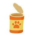 Dog can icon cartoon style vector image