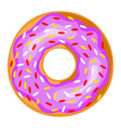 donut icon baked glazed doughnut with frosting vector image vector image