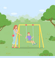 family outdoor recreational activity child vector image vector image