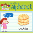 Flashcard letter C is for cookies vector image vector image