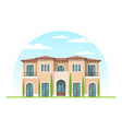 frontview of mediterranean style suburban private vector image vector image