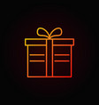 gift box colored line icon on dark vector image