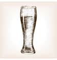 Glass of beer sketch style vector image vector image