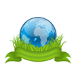 Go green life environment symbol isolated vector image