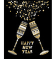 Gold New Year drink toast luxury party celebration vector image vector image