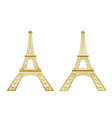 golden eiffel tower vector image