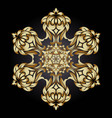 golden ornament element in the form of a mandala vector image