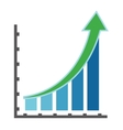 graph with arrow icon vector image vector image