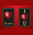 happy valentines day greeting card red gem vector image vector image